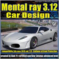 Mental ray 3.12 in 3dsmax 2015 Vol.7 Car Design_cd front
