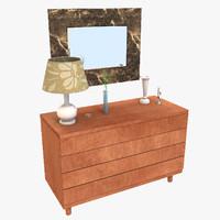designs vanity table c4d