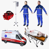 ambulance realtime patient 3d max