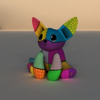 cute plush 3d obj