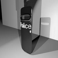 3d police shield model