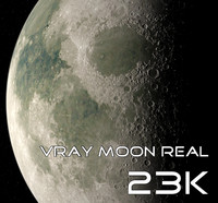 3ds max moon real 23k