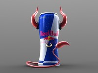3d studio lighting energy drink