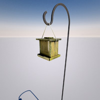 3d model realistic bird feeder