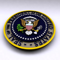 presidential seal 3d model
