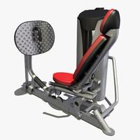 3d leg press model