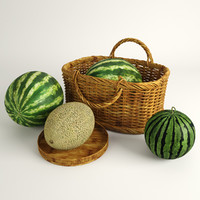 3ds max melon watermelons