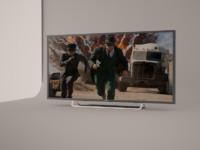 3d model tv sony w600b