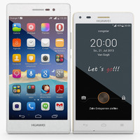 3ds max huawei ascend white