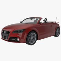 3d model audi tts convertible 2015