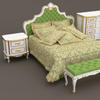 3ds max classic bedroom furniture set