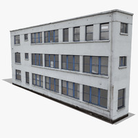 3d industrial building 2 model