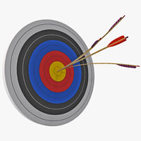 3d bulls eye split arrow