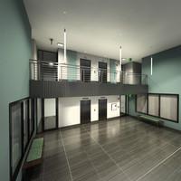 lobby entry interior 3d max