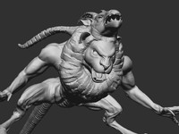 3d model mythical chimera