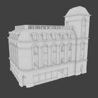 3d old european building interior