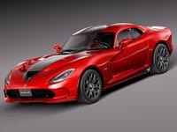 2013 dodge viper 3d model