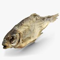 dry fish 2 3d model