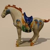 3d model figurine horse statuettes