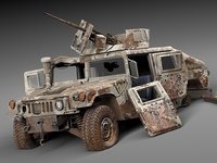 Hummer HMMWV destroyed