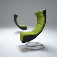 oversized lounge chair nico 3d max