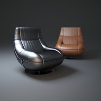 3d luxurious-leather-armchair model