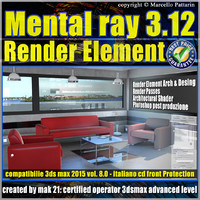 Mental ray 3.12 in 3dsmax 2015 Vol.8 Render Element
