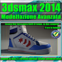 3ds max 2014 Modellazione Avanzata shoes star force unlimited 3D model