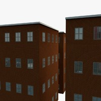 3d building backgrounds model
