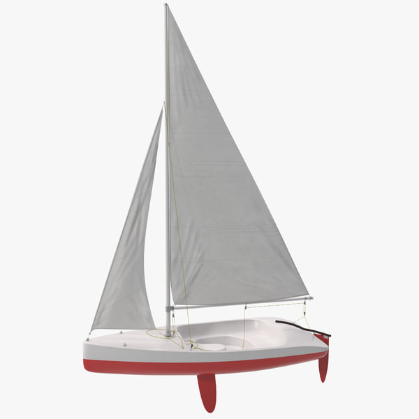 Sailboat 2 sailing boat sail vessel sailboard ships maritime cutter rig sloop transport transportation marine aquatic vray