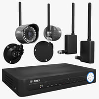 Security System Lorex DVR Wireless Camera Set