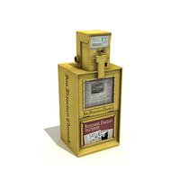 newspaper vending machine 3d model