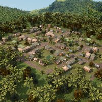 3ds max vietnamese village