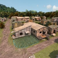 3d model jungle village