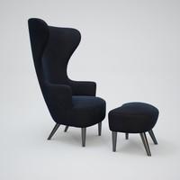 3d wingback-armchair