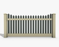 wooden fence 3d 3ds