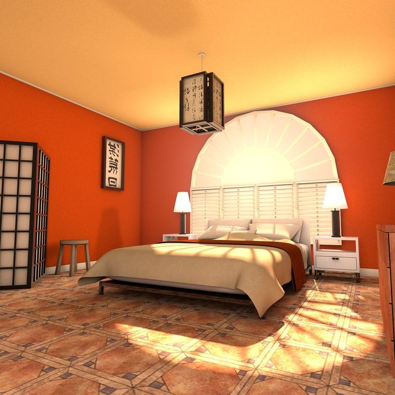 3ds Max Designs Zen Bedroom Interior