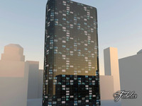 skyscraper modular mentalray 3d max