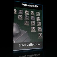 VrayforC4D Materials (Steel Collection)