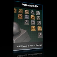 VrayforC4D Materials (Additional Metals Collection)