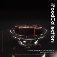 3d sacher sachertorte torte model