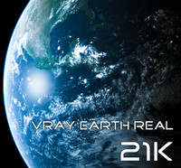 3d max earth real 21k