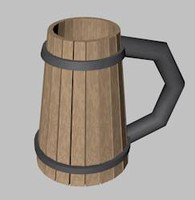 3d model of tankard beer mug
