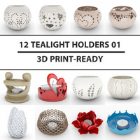 3d model 12 tealight holder