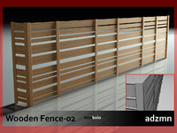 3d dwg wooden fence wood