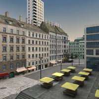 3d model city center modern