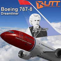 3d boeing 787-800 norwegian airlines