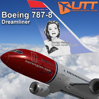 3d model boeing 787-800 norwegian sonja