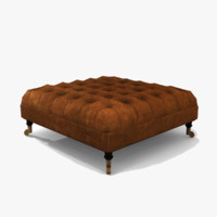 3d chesterfield footstool model