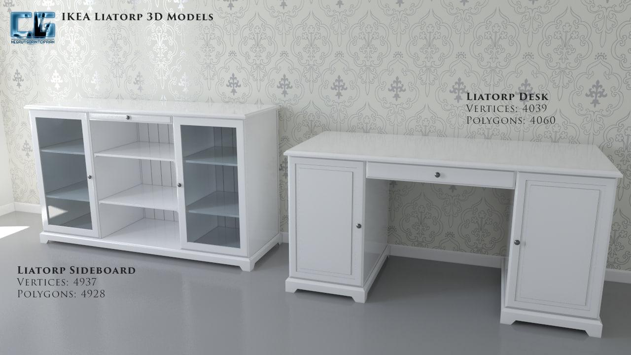 max ikea liatorp sideboard desk. Black Bedroom Furniture Sets. Home Design Ideas